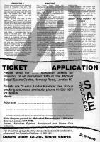 Holeshot Ticket Booking Form 1987