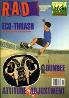 Cover of R.a.D skateboard magazine, November 1989