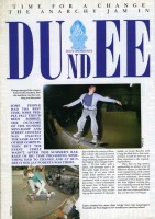 Skateboarding in Dundee Article from November 1989