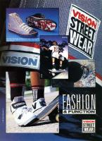 Vision Street Wear advert February 1990